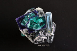 Fluorite and aquamarine, Namibia