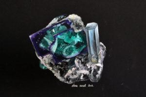 Fluorite and aquamarine, Namibia