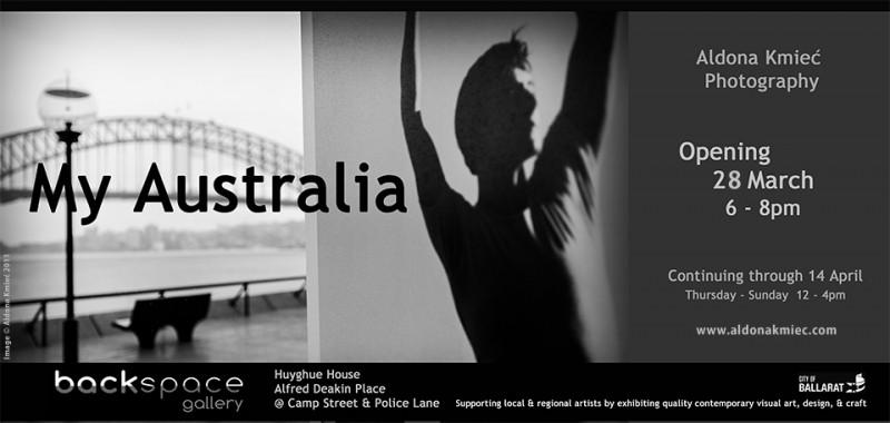 Aldona Kmiec Art Photography My Australia exhibition & open studio Backspace Gallery