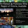 Art Retreat in the Pyrenees Wine Region of the Grampians, Victoria