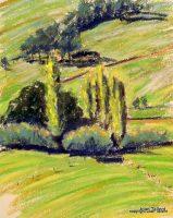 Poplars-Jamieson. 37 X 47cm, Pastel