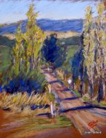 Country Lane. Pastel