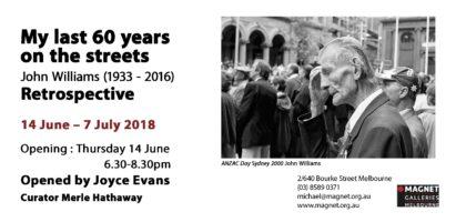 Invitation to John Williams exhibition
