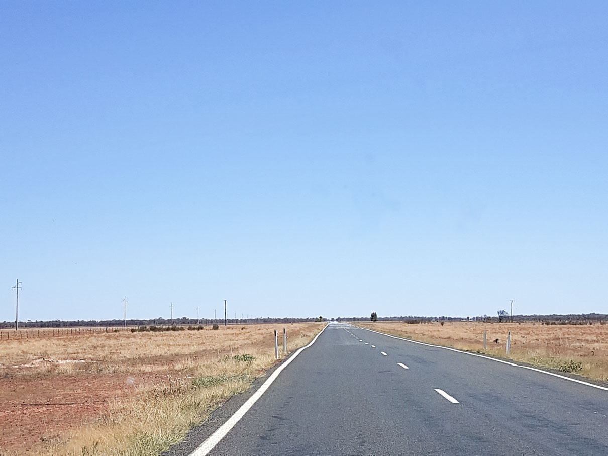 Outback road. Picture: Jason Nahrung