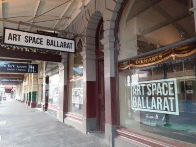 Photo of street front or Art Space Ballarat.